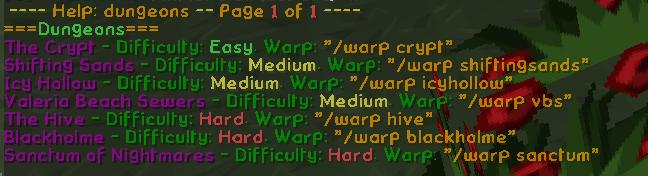 Dungeon help