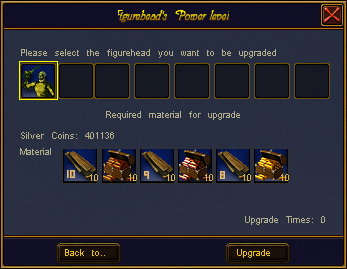 Figurehead upgrade interface