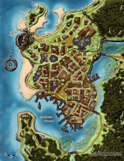 Sandpoint map