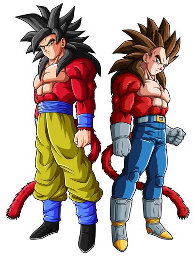 Goku ssj4 and vegeta ssj4 by drozdoo-d4gxx28-0