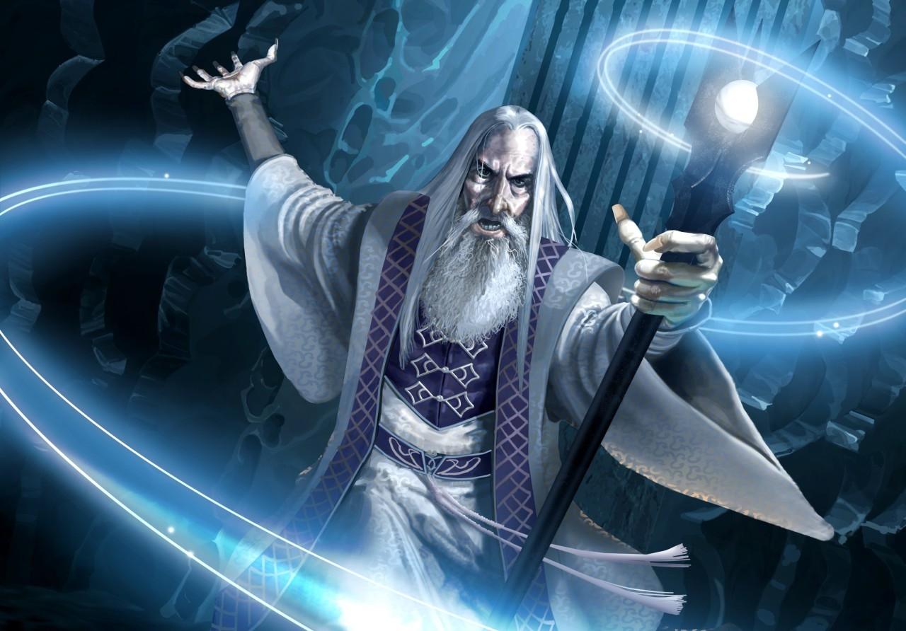 image saruman the white wizard fantasy lord of 3840x1080