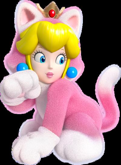 437px-Cat Princess Peach Artwork - Super Mario 3D World