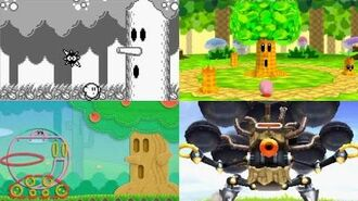 Evolution of Whispy Woods Battles in Kirby games (1992 - 2016)