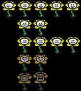 Flowey faces
