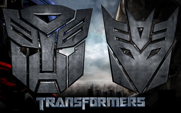 3D Autobot and Decepticon Logo by td0615