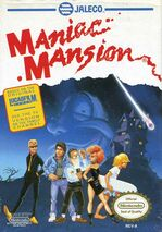 ManiacMansion NES box