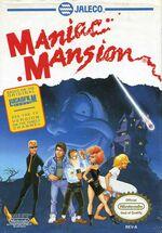 ManiacMansion NES box