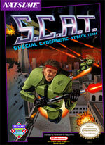 SCAT Special Cybernetic Attack Team NES cover