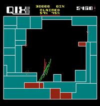 Qix arcade screenshot