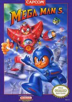 Mega Man 5 NES cover