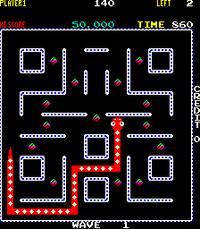 Nibbler arcade screenshot