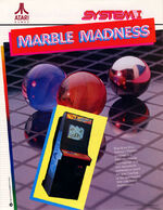 Marble Madness arcade flyer