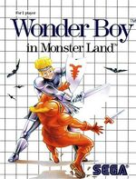 Wonder Boy in Monster Land SMS box art