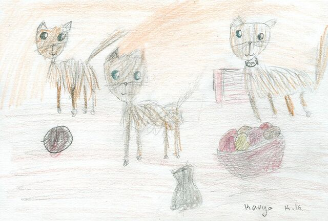 File:Kanya Kaluarachchi the cats and wool.jpg