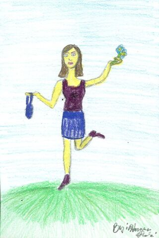 File:Harveen Dulai Barbie waving with a bunch of flowers in her hand.jpg