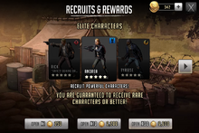 Recruits & Rewards Elite Characters