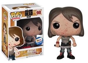 File:Maggie BLOOD SPATTER Wlaking Dead POP (2).jpg
