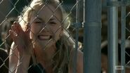 Beth crying and angry looking at Hershel's decipation