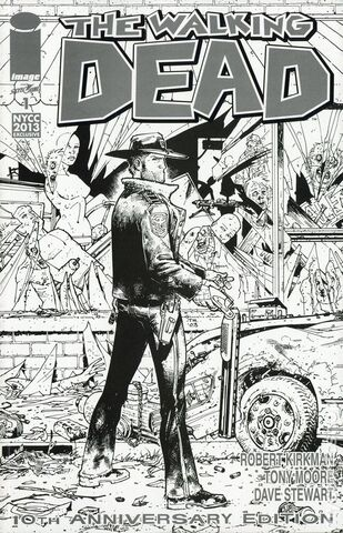 File:Walking Dead 10th Anniversary Edition (2013) New York Comic Con Black and White Exclusive Cover.jpg