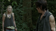 Beth awesomely cute but yet badass look towards Daryl!