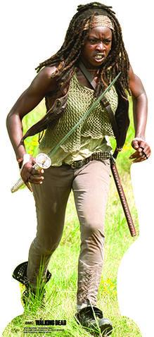 File:Michonne Lifesize Cardboard Cutout.jpg