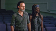 Rick and Michonne Annoyed at Morgan 709