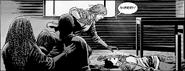 Dwight Running to Sherry's Corpse