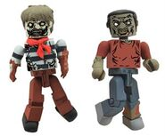 Walking Dead Minimates Series 2 Leg Bite Zombie and Sailor Zombie 2-pk