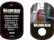 The Walking Dead - Dog Tag (Season 2) - Laurie Holden C4 (AUTHENTIC WORN COSTUME PIECE)