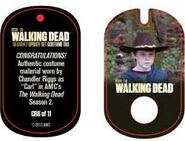 The Walking Dead - Dog Tag (Season 2) - Chandler Riggs CR6 (AUTHENTIC WORN COSTUME PIECE)
