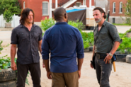 Daryl and Rick talk to Morgan about Carol 7x09