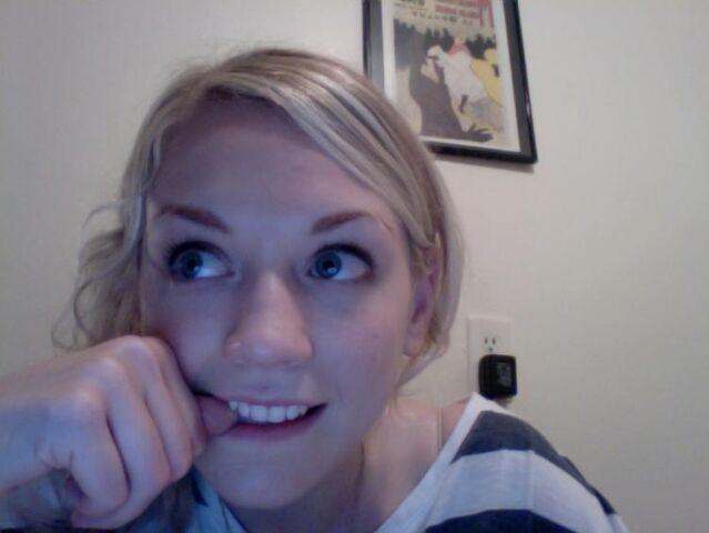 File:Emily touching her teeth.JPG