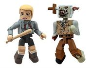 Walking Dead Minimates Series 2 Amy with Stabbed Zombie 2-pk