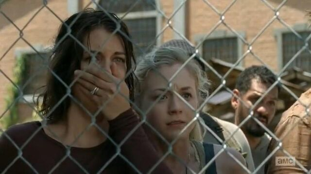File:Maggie and Beth looked shocked at Hershel's captured.JPG