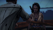 ITD Michonne Sitting in Boat