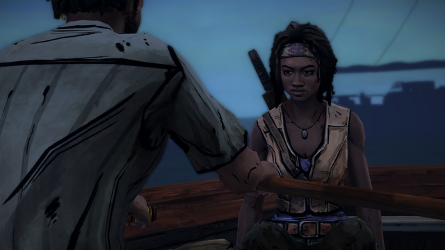 File:ITD Michonne Sitting in Boat.png