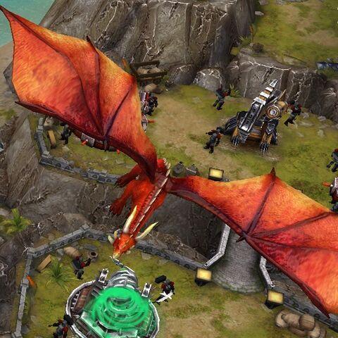 Kastor circling above player's island