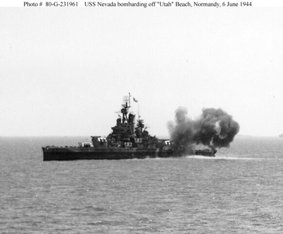 File:USS Nevada-firing at D-Day on Utah Beach.jpg