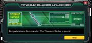 TitaniumBlades-UnlockMessage