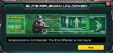 Elite rifleman unlocked