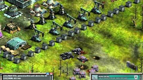 Laser Turrets Vrs Mega Tanks. War Commander
