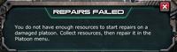 Reparis failed