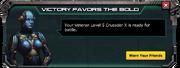 Cruader X - Veteran Level 5 Message