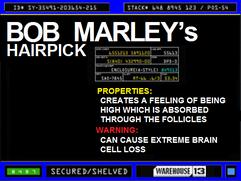 Bob Marley's Hairpick