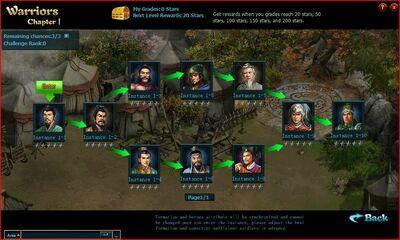 Warrior system main screen
