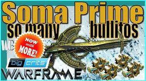 SOMA PRIME - Argon Scope Red Crits 4 forma - Warframe