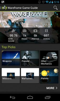 Warframe App Screenshot