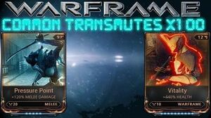 Warframe - Transmuting Common Mods 100 Times