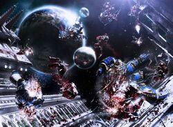 Guilliman space battle