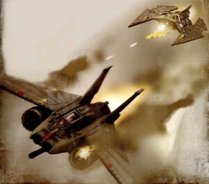 Fighters dogfight